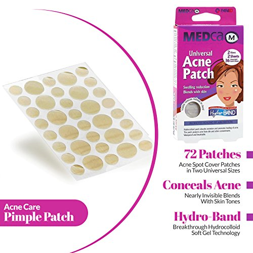Acne Spot Dots - 72 Count, Hydrocolloid Acne Pimple Care Patches Absorbing Spot Dots Round Blemish...