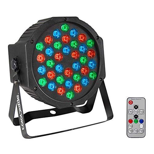 (COLOR'SAGE DJ Par Light RGB 36Leds Wash Stage Lighting with Remote and DMX Control for Disco Party Wedding)