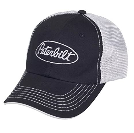 feb4e1cf2cb Amazon.com  Peterbilt Motors Mesh Back Black Cap  Sports   Outdoors