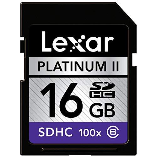 Lexar Platinum II 16 GB 100x SD/SDHC Flash Memory Card (LSD16GBSBNA100-BULK) (Certified Refurbished)