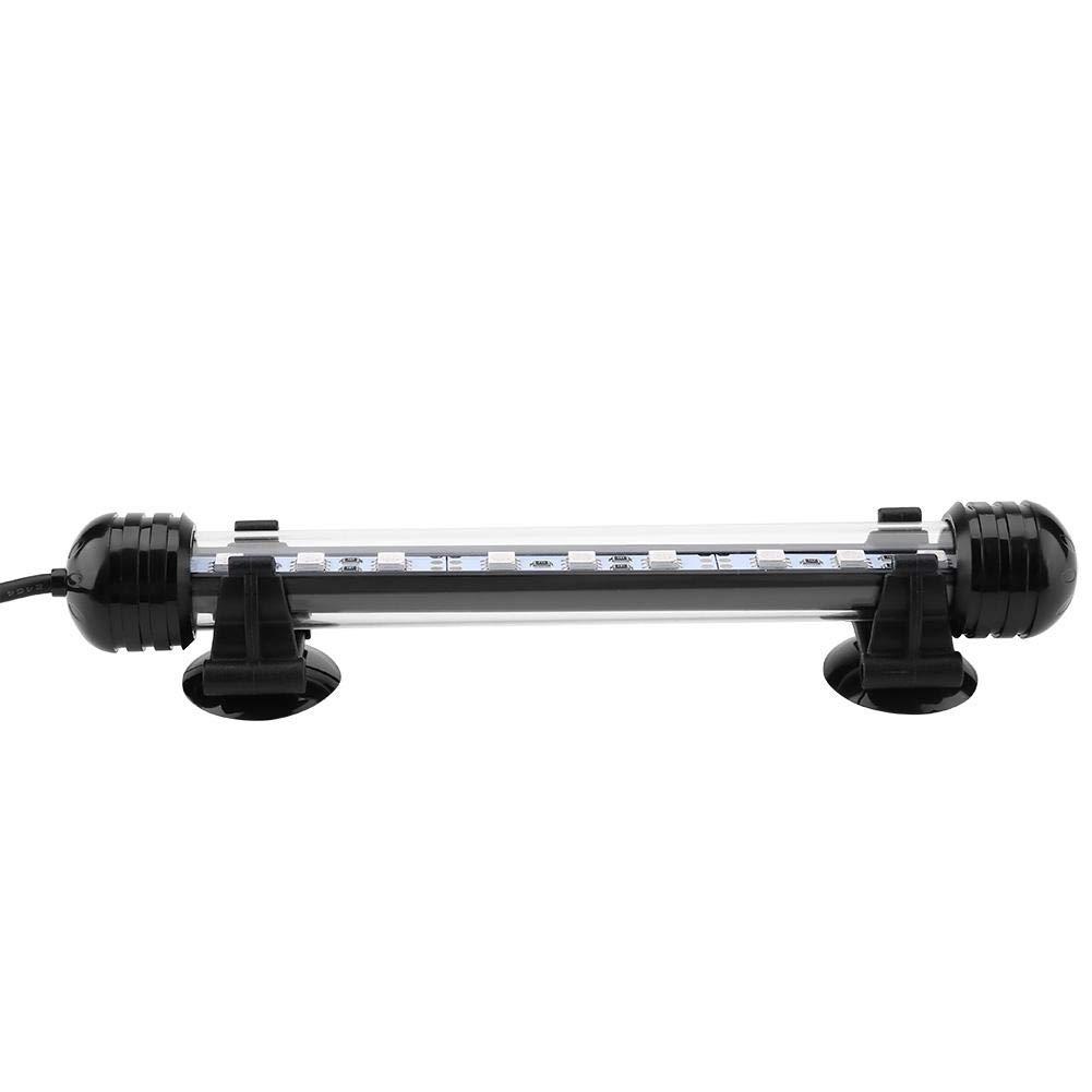 28cm Resistente al Calor Colorido LED L/ámpara de luz para acuarios Antiexplosi/ón Luz Sumergible Impermeable para acuarios Decoraci/ón para acuarios Minnya Luz LED para acuarios