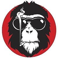 Divine Designs Cool Smoking Monkey Cartoon Icon Vinyl Decal Sticker