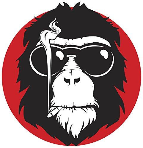(Cool Smoking Monkey Cartoon Icon Vinyl Decal Sticker (4