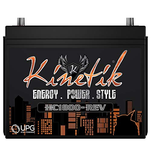 Kinetik HC1800-REV 1800 Watt 12V High Current Car Audio Power Cell Battery With Advanced AGM Technology