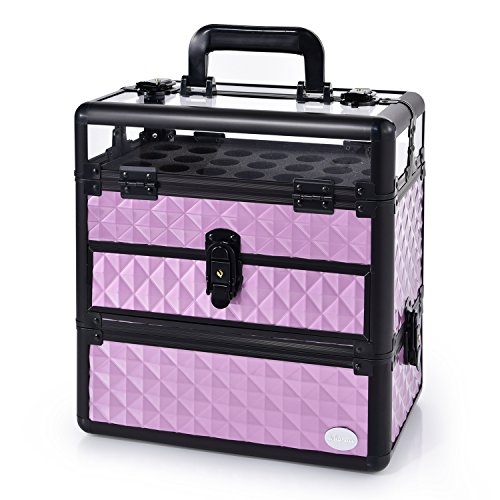 Large Nail Train Case Professional Cosmetic Makeup Box Porta