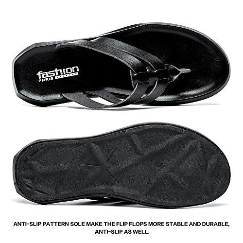 Pictures of BINSHUN Men Thong Sandals Flip Flops Lightweight 4