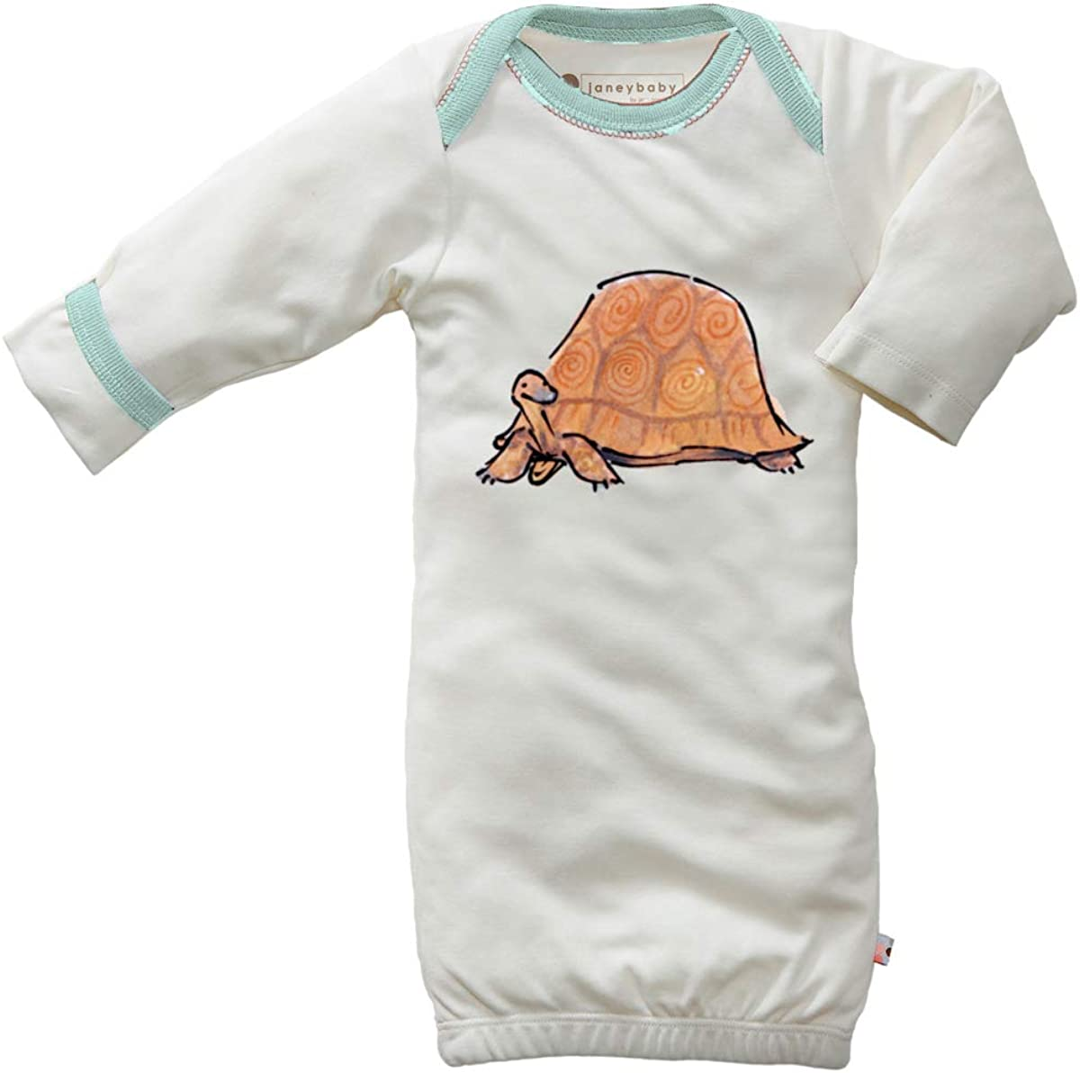 Babysoy Jane Goodall Animal Long Sleeve Newborn Gown/Bundler Infant Sleep Sacs