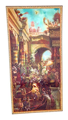 Sunday Set Palm (Tres Jolie Galleria Hosanna Jesus Christ's Triumph in Jerusalem Palm Sunday - 3D Lenticular Print Wall Art Picture Decor 12 x 24 Inches Unframed - Artwork by Tom Dubois)