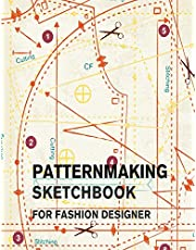 Patternmaking Sketchbook for Fashion Designer: Making Fashion Pattern Efficiently with Blank Graph Paper   Sketch Book for Fashion Professionals and Beginners