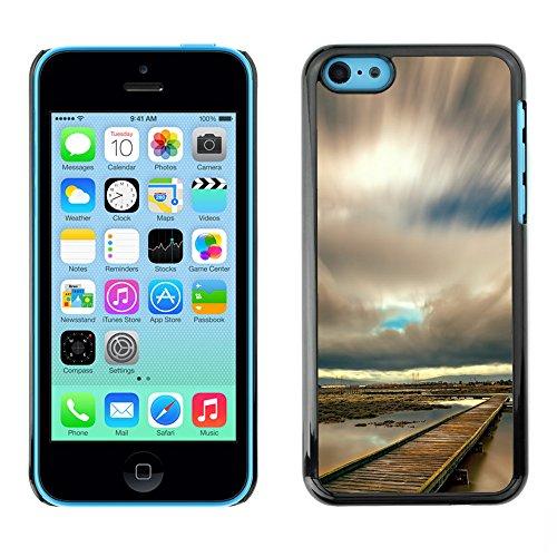 Premio Sottile Slim Cassa Custodia Case Cover Shell // F00028438 Attendre la tempête // Apple iPhone 5C