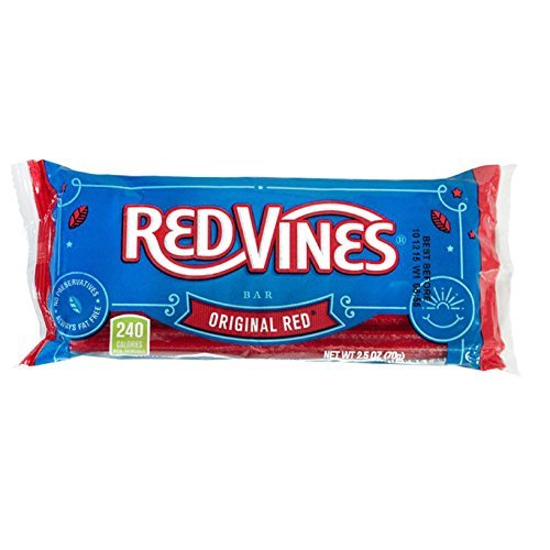 Red Vines  Original Red Twists Bars, 2.5oz Bag  (24 Pack)