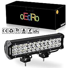 oEdRo LED Light Bar 72W Spot Flood Combo led lights work lights Fog Driving Light Off Road Light 12V 24V Pickup Jeep SUV 4WD 4X4 ATV UTE Truck Tractor 3 years Warranty