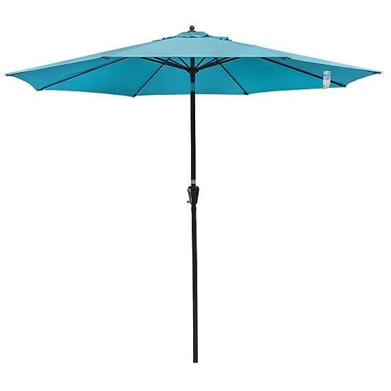 Sundale Outdoor Paraguas Redondo de Aluminio con Inclinación ...