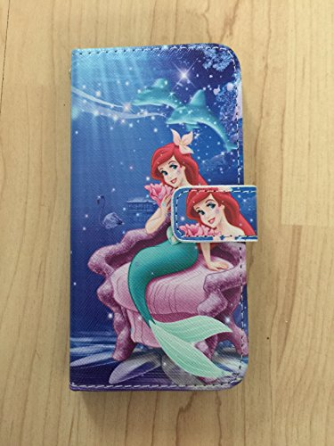 Princess Ariel The Little Mermaid Flip Stand Pu Leather Case Wallet For iPhone 7 Plus