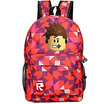 c69cfcc47d85 Cos Roblox Schoolbag Backpack Kids Students Bookbag Handbags Travelbag  (ling ge red)