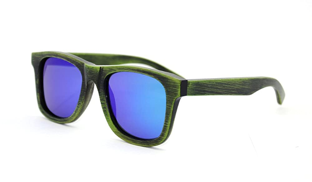 f842ca0636 Generic Bamboo Wood Sunglasses in wayfarer Style with Polarized UV  Protection Lens for Men and Women  Amazon.co.uk  Clothing