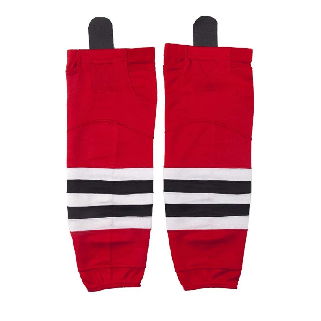 COLDINDOOR Ice Hockey Socks Kids, Boy Youth School Team Game Practice Hockey Socks Junior Red XS by COLDINDOOR