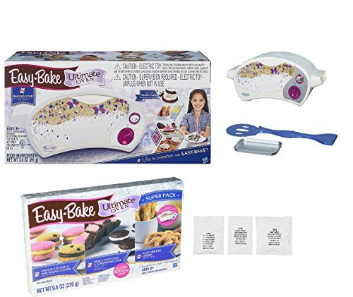 Easy Bake Oven + Star Edition Ultimate Super Pack Refill Set. (Oven Bake Hasbro Easy)
