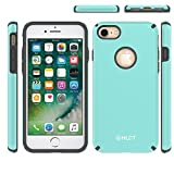 iPhone 8 case, iPhone 7 Case, HLCT Beautiful Design Slim Fit Thin, Interior TPU Bumper & Hard PC Back, Shock-Absorption Hybrid Dual-Layer Cover (Baby Teal)