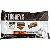 Hershey's Sugar Free Milk Chocolate And Caramel Filled Chocolate Assortment Bag), 8-Ounce (Pack of 3)
