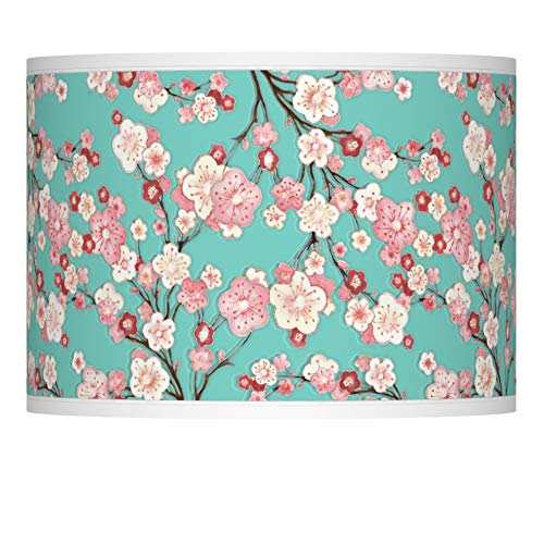 (Cherry Blossoms Giclee Lamp Shade 13.5x13.5x10 (Spider))