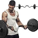 Curvo-Curl-Ez-Bar-Barra-47-Pollici-Standard-BarBilanciere-Curvo-OlimpicoBarra-per-Allenamento-Bicipiti-e-Tricipiti-PerPotenziamento-Muscolare-Fitness-A-Casa