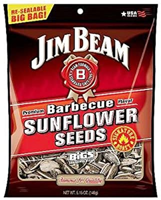 "Jim Beam Barbecue Sunflower Seeds ""Roasted by BIGS"", 5.15-Ounce Bag (Pack of 12) from Jim Beam"