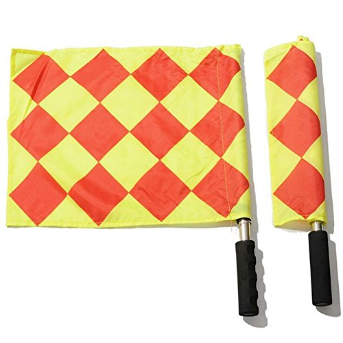 Gracefulvara Football Referee Linesman Flags (Flags Linesman Soccer)