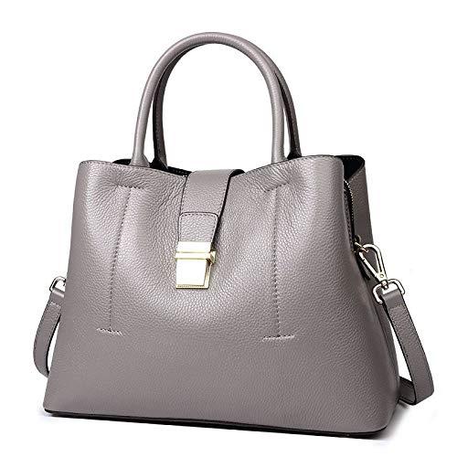 Borsa Femminile Versione Coreana Della Borsa Secchiello In Pelle Borsa A Tracolla Grande Capacità Moda Selvaggio Messenger Bag Grey