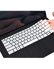"""CaseBuy Keyboard Cover Skin for 2020 New Dell XPS 15 9500 15.6 Laptop/New XPS 17 9700 17"""" Laptop, Dell XPS 15 9500 Keyboard Protector Skin, White"""