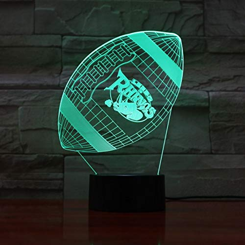 KLSOO Led Night Light Leeds Rhinos 3D Illusion Touch Children Kids Boys Gift Table Bedroom Lamp Rugby League Football Club