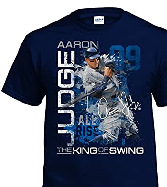 Aaron Judge New York #99 MLB Players Adult T-Shirt (Medium)