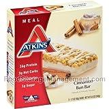 Atk Adv Bar Cinnamon Bun Size 8.5z Atkins Advantage Bar 5pk Cinnamon Bun