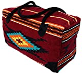El Paso Designs Southwest Duffel Bag- Camino Real Native American and Mexican Style Jumbo Large Travel Bags (Toluca)