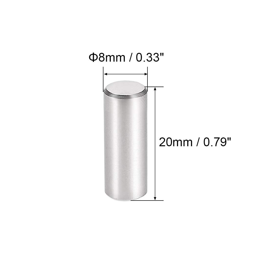 sourcing map 5stk mm X mm Passstift 304 Edelstahl Zylindrisch Bodentr/ägerstift 6 mm x 45 mm