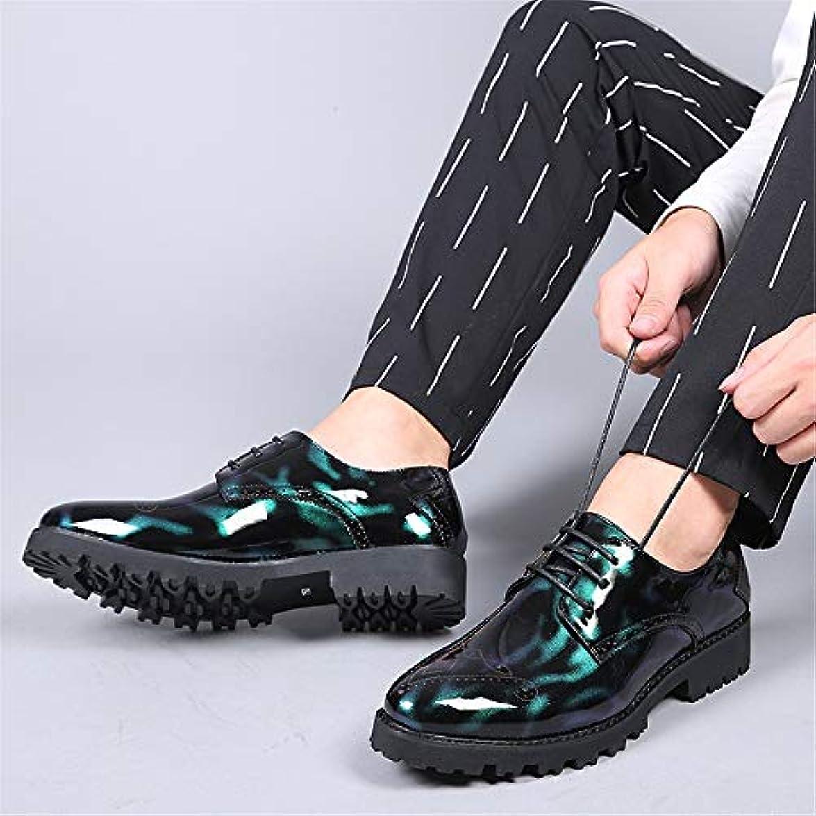 Oxford Business Formali Brogue Trend Gby Uomo Low-top In Colore Fashion Da Personality Nera Vernice Casual Nere Scarpe