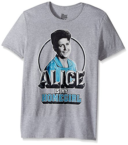 CBS Unisex-Adults Brady Bunch Alice is My Homegirl Short Sleeve T-Shirt, Heather Grey, Large