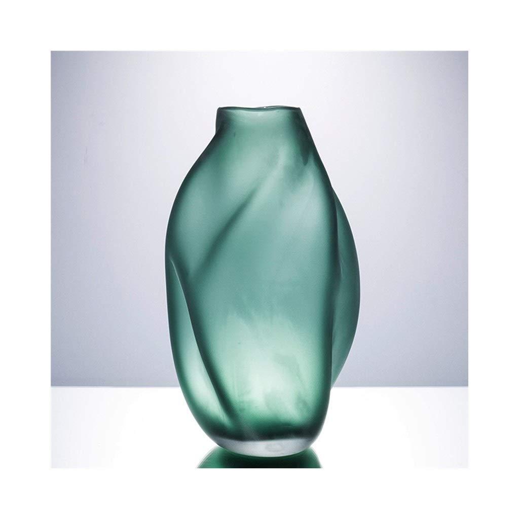 クリエイティブグリーン花瓶リビングルームフラワーアレンジメント花瓶ワインキャビネットテレビキャビネット花瓶装飾 (Color : B) B07S9X6HY3 B