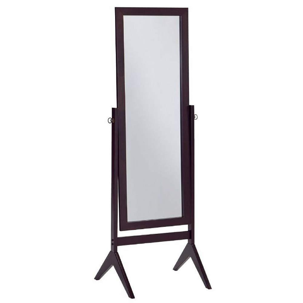 BS Standing Mirror Full Length Bedroom Floor Cosmetic Decorative Standing Beauty Decor Mirror Espresso Wood Sophistication Chic Style & eBook BADA shop