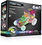 Laser Pegs 6-in-1 Tractor Building Set