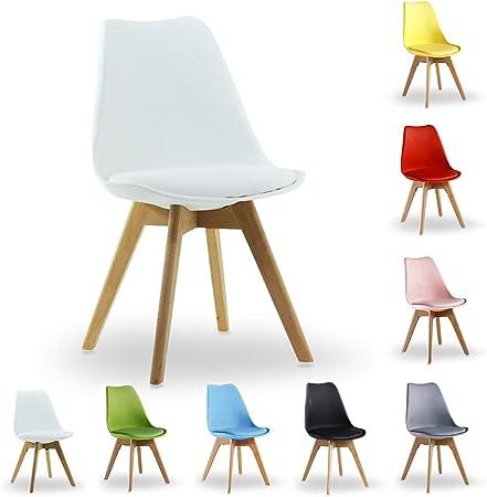 à P Assise Rembourrée Livraison Design Scandinave N Gratuite Chaise Salle Homewares Lorenzo Blanche MangerSalonCuisineBureau dxBorCe