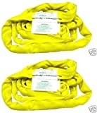 Ships in 1 to 2 Business Days! BA Products 38-RSY-8-x2, 8' Yellow Round Sling (set of 2)
