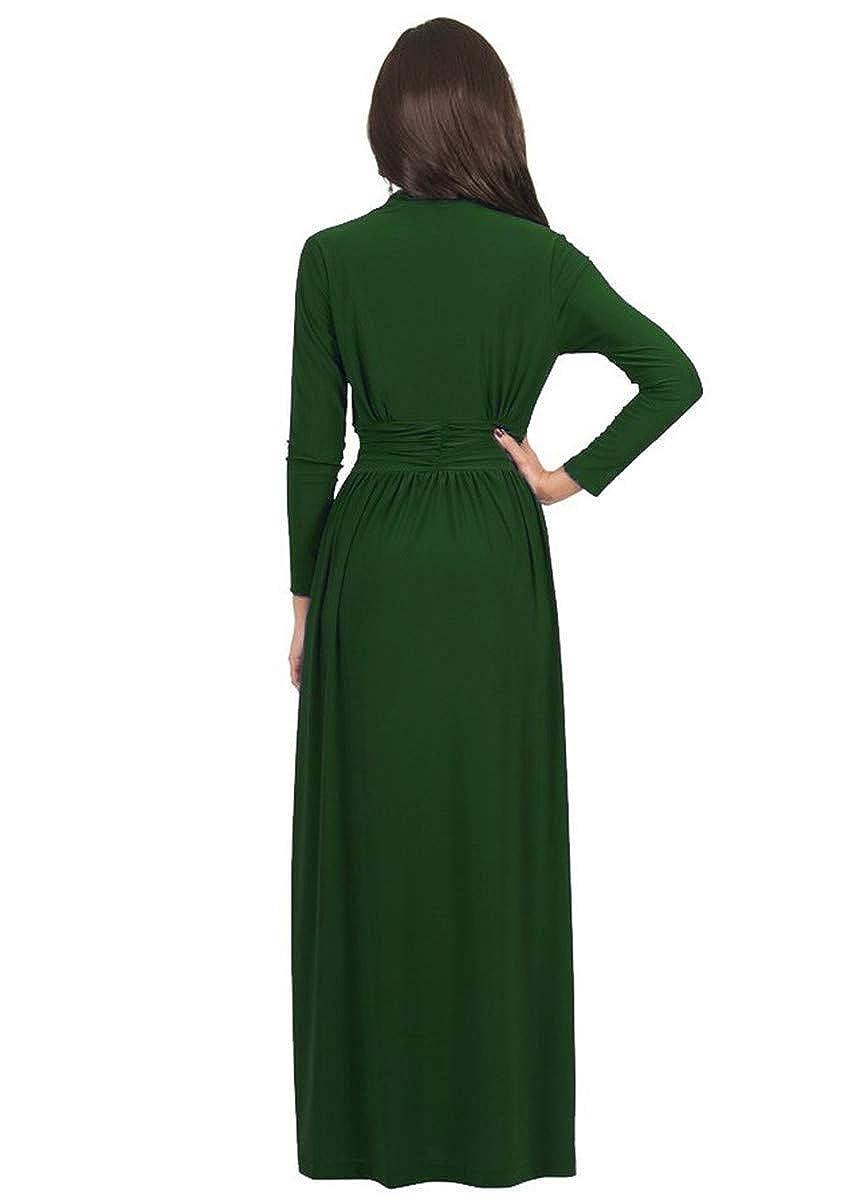Globalwells Womens deep V-Neck Bandage Cocktail Party Dress Long Gown Dress