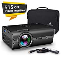 VANKYO Portable Projector with 2500 Lux, Support HD 1080P, Mini Projector with USB/SD/AV/HDMI/VGA Input. Come with Free Carrying Bag and HDMI Cable(Black)