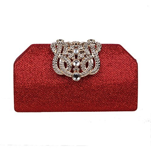 611abb823 Fawziya Bling Crown Clutches Purses and Handbags for Womens Clutch Bags-Red