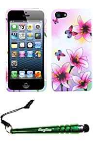 FoxyCase(TM) FREE stylus AND APPLE iPhone 5 Spring Lilies Phone Protector Cover cas couverture