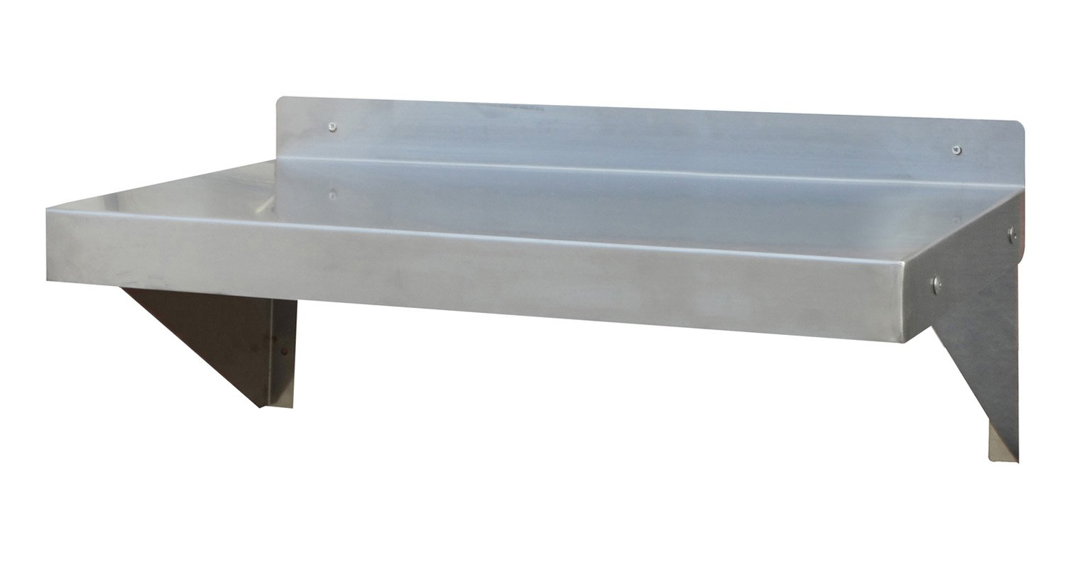 Offex 24'' Brushed Stainless Steel Finish Work Shelf - Silver by offex (Image #1)