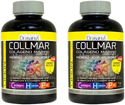 Collmar masticable Limon - Colageno marino hidrolizado 180 comp ...