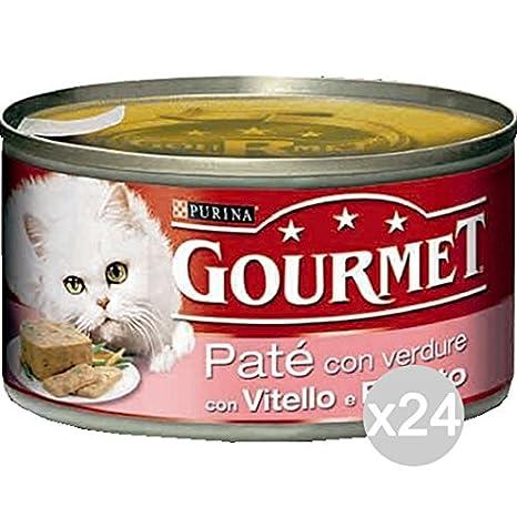 Purina Juego 24 Gourmet latas Becerro prosc/Form.195 Pate Comida para Gatos