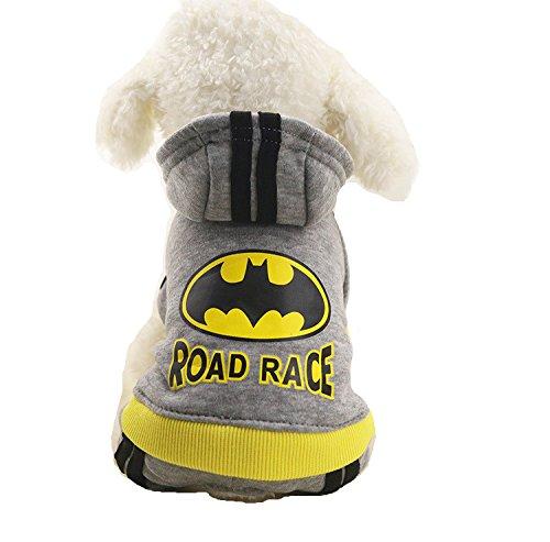 Superman Dog Suit (Chicpaw Pet Sweater Superman Jumpsuit Dog Cat Hoodie Puppy Teddy Warm Clothes Apparel (S), Batman)